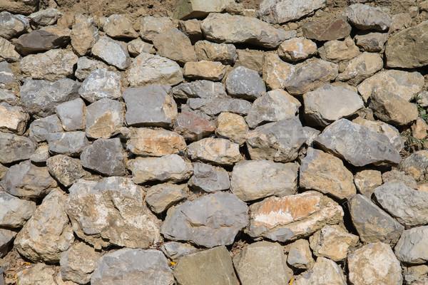 Tuğla duvar park taş duvar inşaat soyut arka plan Stok fotoğraf © O_Lypa