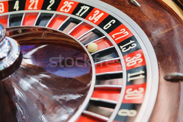 Rueda de la ruleta casino ruleta macro tiro negro Foto stock © O_Lypa
