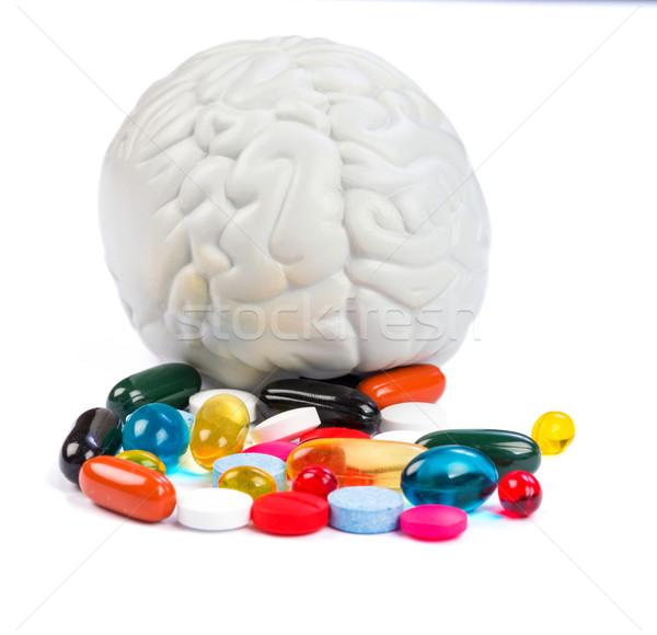 Pillen foto kleurrijk chemische zorg Stockfoto © Obencem