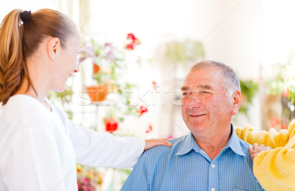 Elderly home care Stock photo © Obencem