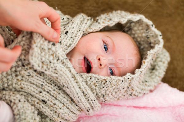 Aanbiddelijk baby portret familie jonge Stockfoto © Obencem
