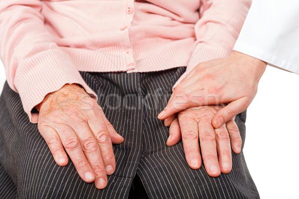 Helpen handen jonge arts hand Stockfoto © Obencem
