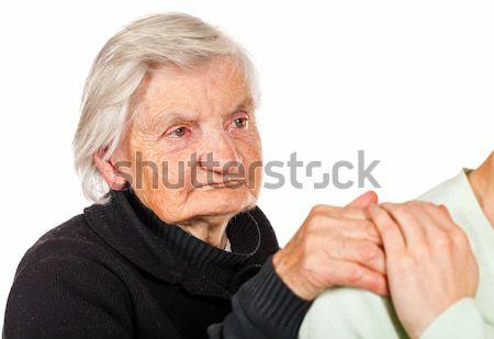Helpen handen kiezen verzorger vrouw Stockfoto © Obencem