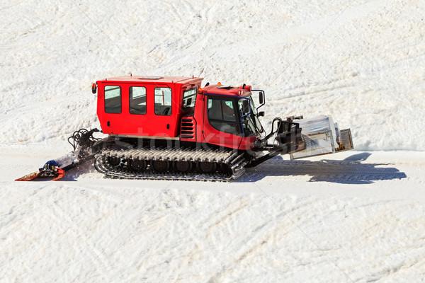 Rood foto vervoer voedsel bergen technologie Stockfoto © Obencem