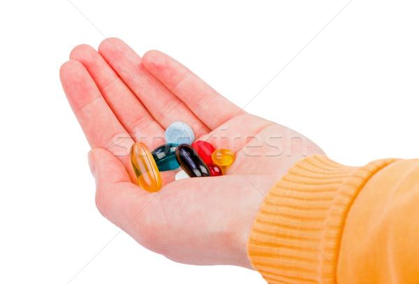 таблетки стороны фото красочный медицинской Сток-фото © Obencem