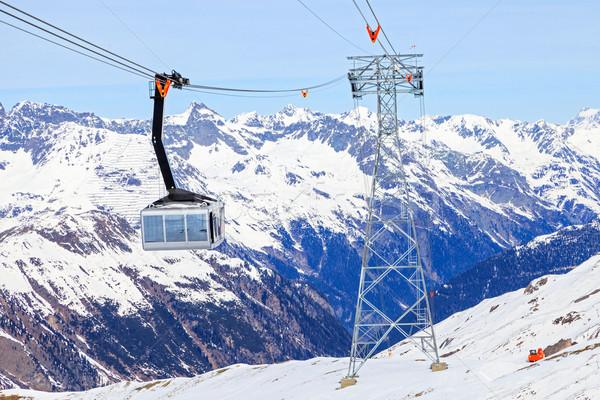 スキー キャビン リフト スポーツ 自然 風景 ストックフォト © Obencem