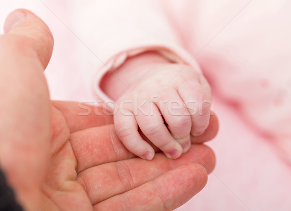Moeder baby handen foto vrouw Stockfoto © Obencem