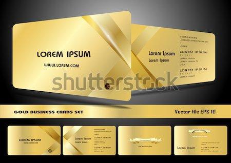 Altın ayarlamak temizlemek basit örnek Stok fotoğraf © obradart