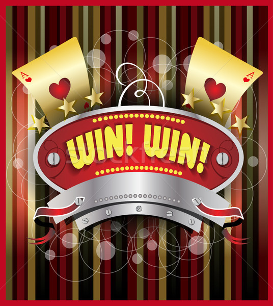 Gambling emblem illustration Stock photo © obradart