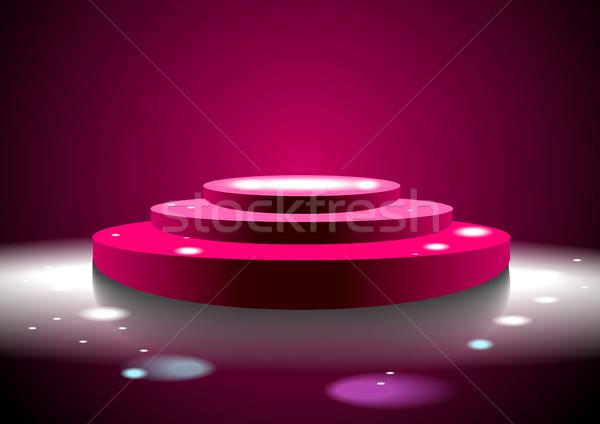 3  ステップ 表彰台 実例 ピンク eps ストックフォト © obradart