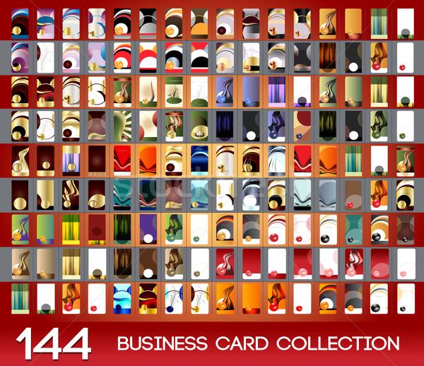 垂直 コレクション セット 実例 eps ストックフォト © obradart