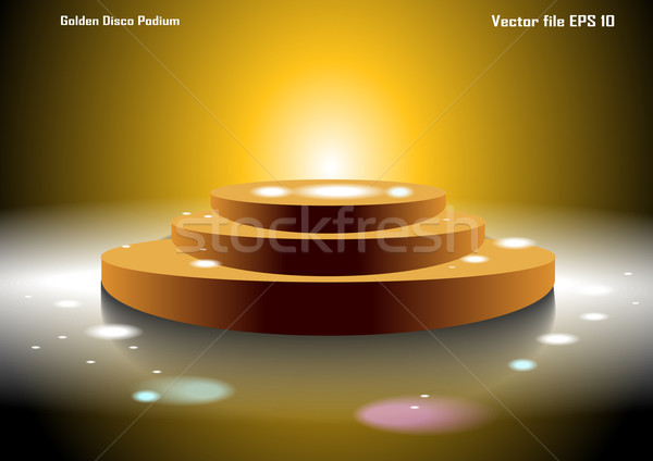 ディスコ 表彰台 実例 ステージ もっと ストックフォト © obradart