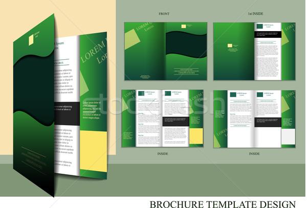 брошюра дизайн шаблона шаблон назад три Сток-фото © obradart