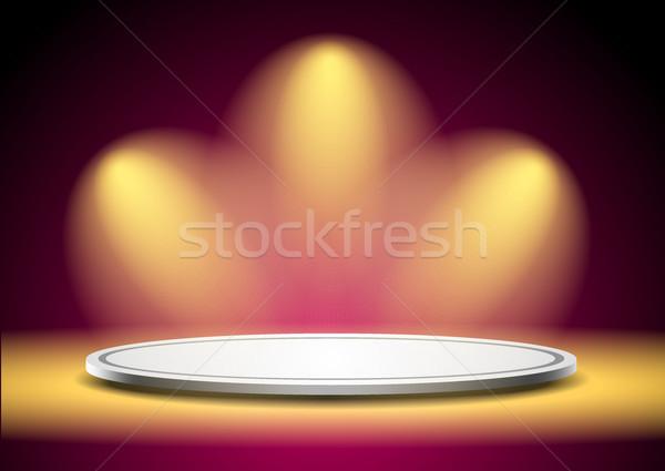 表彰台 実例 美しい プラスチック 青 ダンス ストックフォト © obradart