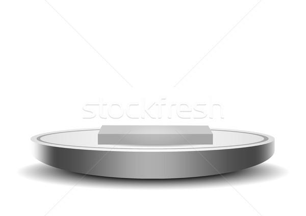 Podium sjabloon mooie plastic illustratie eps Stockfoto © obradart
