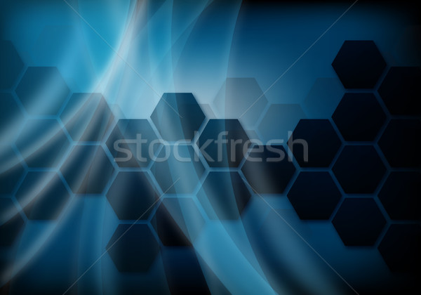 Abstract Blauw ontwerp business licht behang Stockfoto © oconner