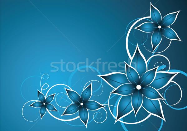 Mavi çiçek vektör soyut mavi çiçek düğün Stok fotoğraf © oconner