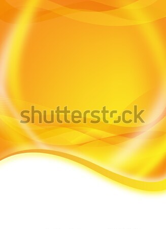 abstract orange flyer Stock photo © oconner