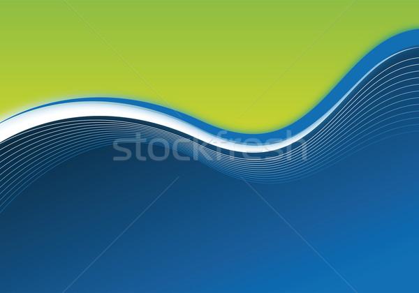 Blauw groene business textuur abstract licht Stockfoto © oconner