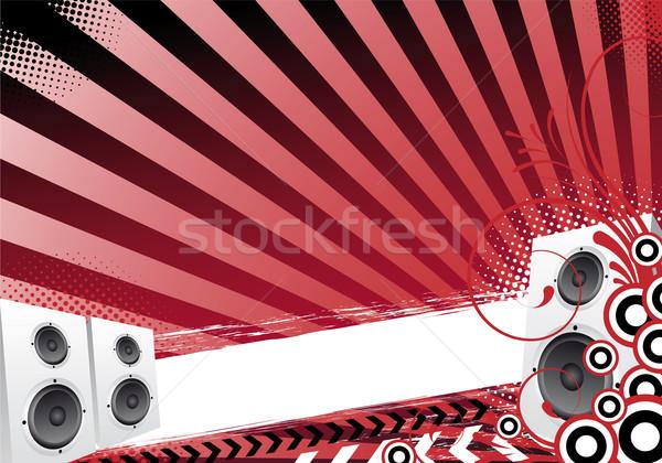 Piros absztrakt buli terv fény háttér Stock fotó © oconner