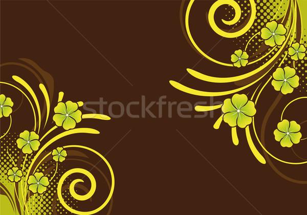 Abstract ornament bloemen ontwerp bloem Stockfoto © oconner