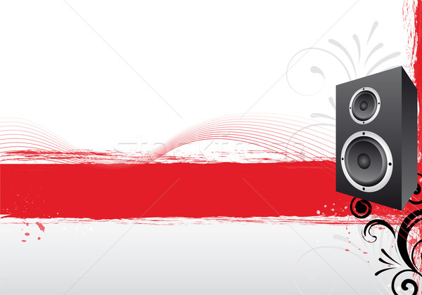 Stock photo: red party design
