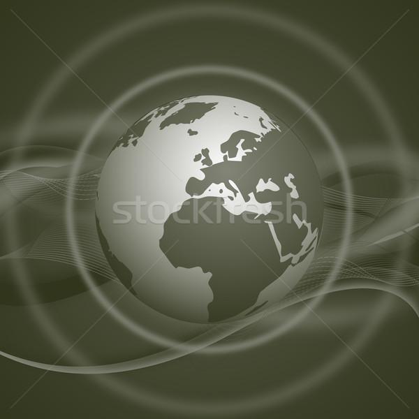 illustration with globe Stock photo © oconner