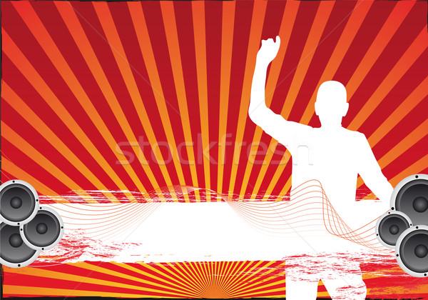 Buli szövegdoboz textúra tánc absztrakt háttér Stock fotó © oconner