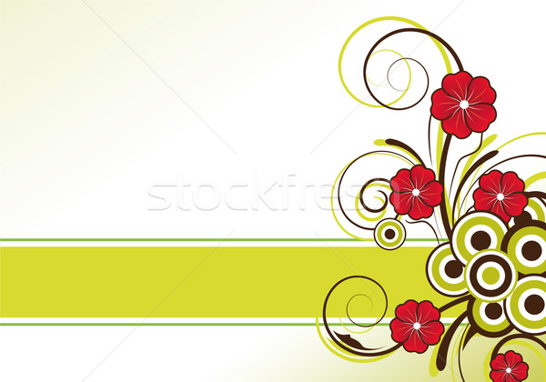 Absztrakt virágmintás terv szövegdoboz virágok virág Stock fotó © oconner