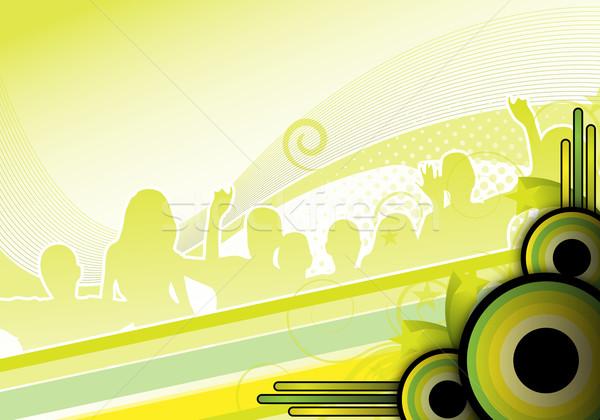 Groene partij ontwerp abstract muziek dans Stockfoto © oconner