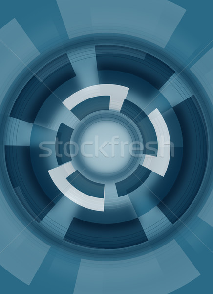 Absztrakt kör kék kreatív terv üzlet Stock fotó © oconner