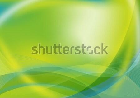 abstract green / blue design Stock photo © oconner