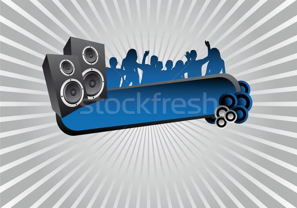 パーティ 文字 フレーム 女性 音楽 テクスチャ ストックフォト © oconner