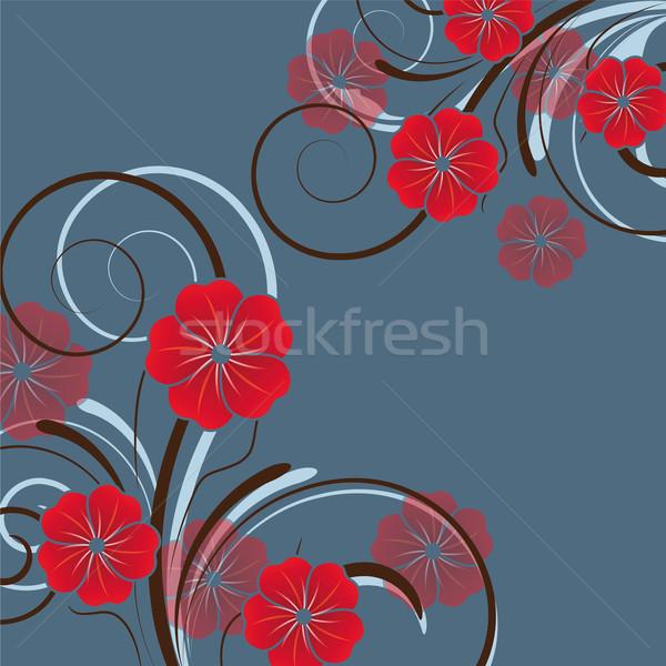 Stock fotó: Absztrakt · virágmintás · terv · virágok · tavasz · természet