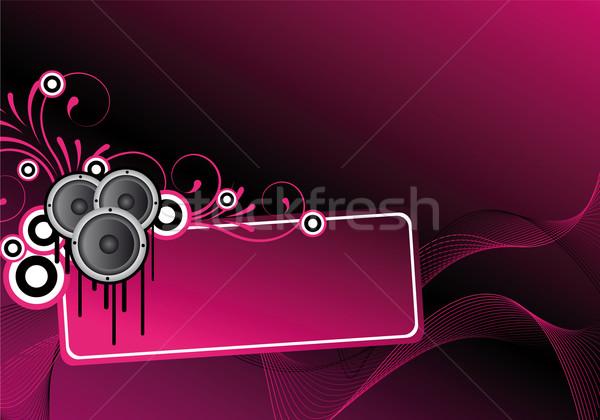 Rózsaszín absztrakt diszkó terv szövegdoboz díszek Stock fotó © oconner