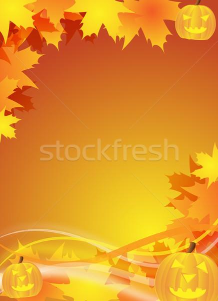 halloween flyer / background Stock photo © oconner