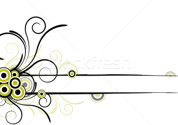 Virágmintás terv szövegdoboz absztrakt természet keret Stock fotó © oconner
