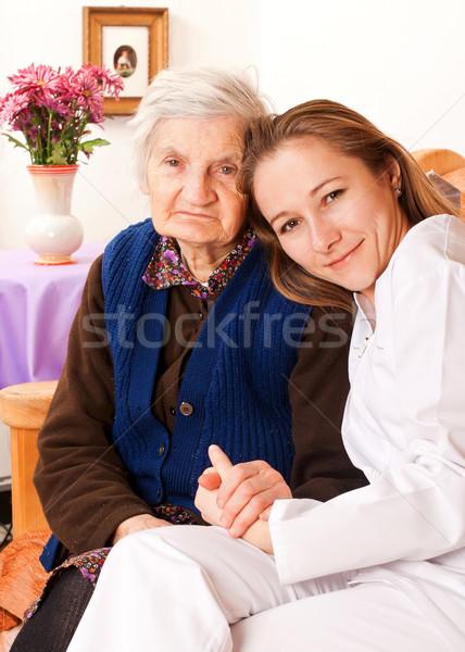 Giovani medico mani vecchio donne Foto d'archivio © ocskaymark