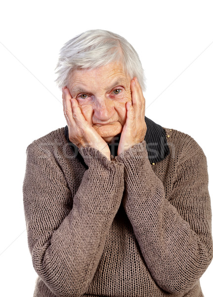Esperança quadro tocante cabeça mulher Foto stock © ocskaymark