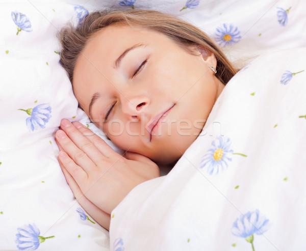 Dormire ragazza bella ragazza letto donna donne Foto d'archivio © ocskaymark