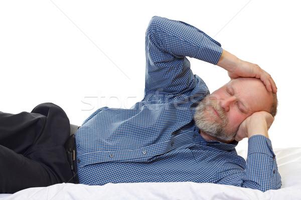 Mal di testa ritratto uomo sofferenza home Foto d'archivio © ocskaymark