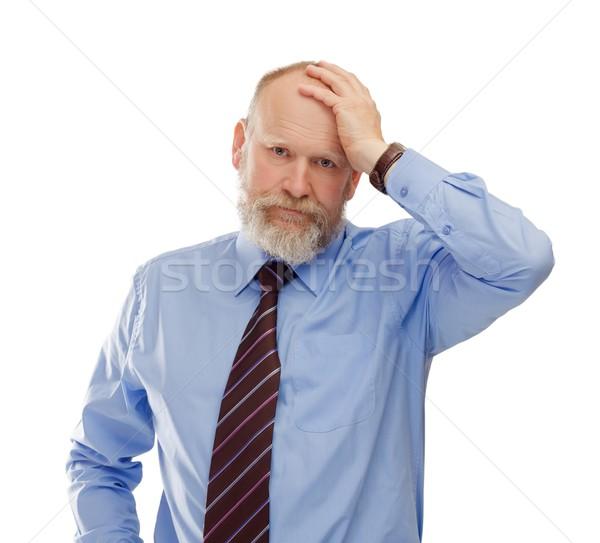 Empresário retrato frustrado senior Foto stock © ocskaymark