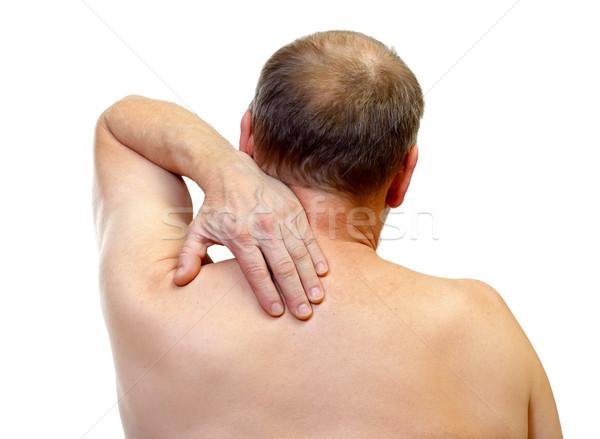 Omuz ağrısı portre yetişkin adam dokunmak omuz Stok fotoğraf © ocskaymark
