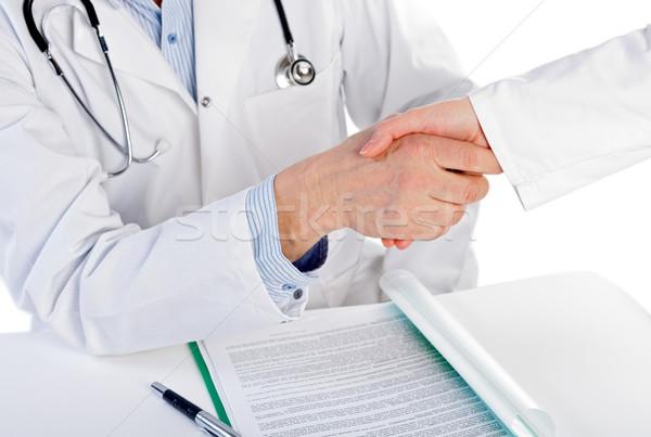 Bátorítás orvos kéz orvosi egészség kórház Stock fotó © ocskaymark
