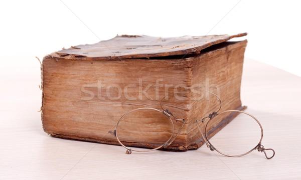 Verhalenboek oude bibliotheek papier Stockfoto © ocskaymark