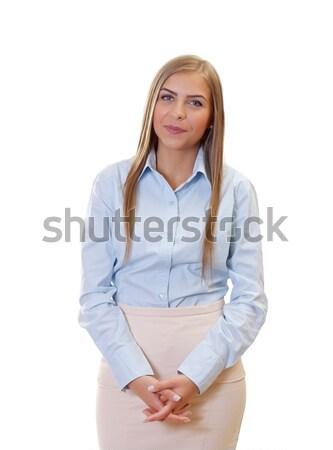 Felice imprenditrice ritratto bella giovani donna d'affari Foto d'archivio © ocskaymark