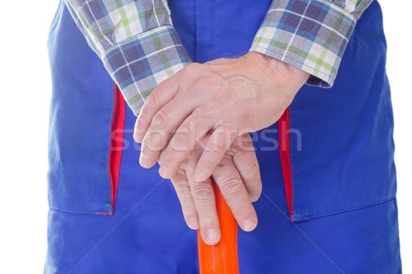 Lavoratore mani mano isolato sfondo Foto d'archivio © ocskaymark