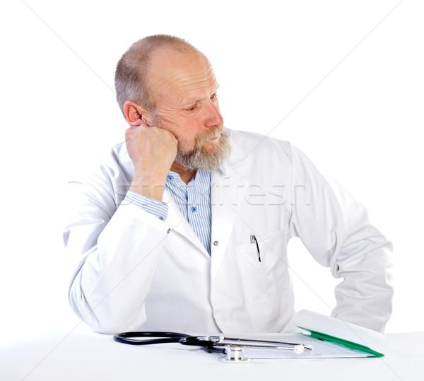 печально врач портрет белый медицинской здоровья Сток-фото © ocskaymark