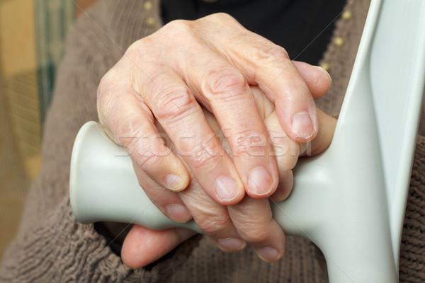 пожилого рук ходьбе цвета кожи Сток-фото © ocskaymark