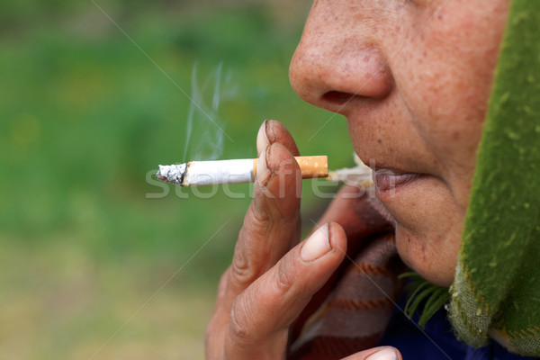 Stock photo: Nicotine addiction